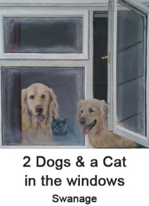 2 dogs and a cat
