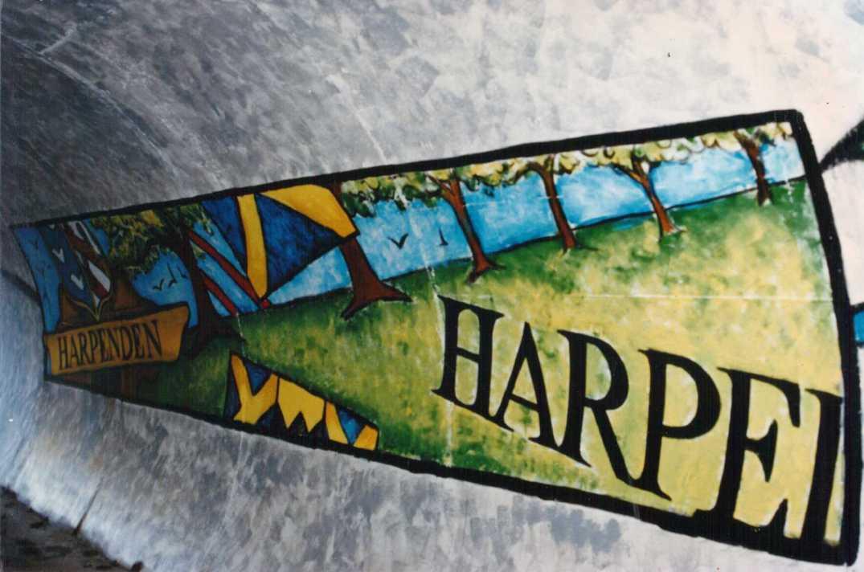 Harpenden Railway Bridge mural 1997_1
