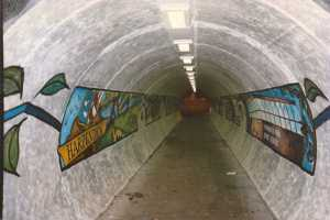 Harpenden Railway Bridge mural 1997_3