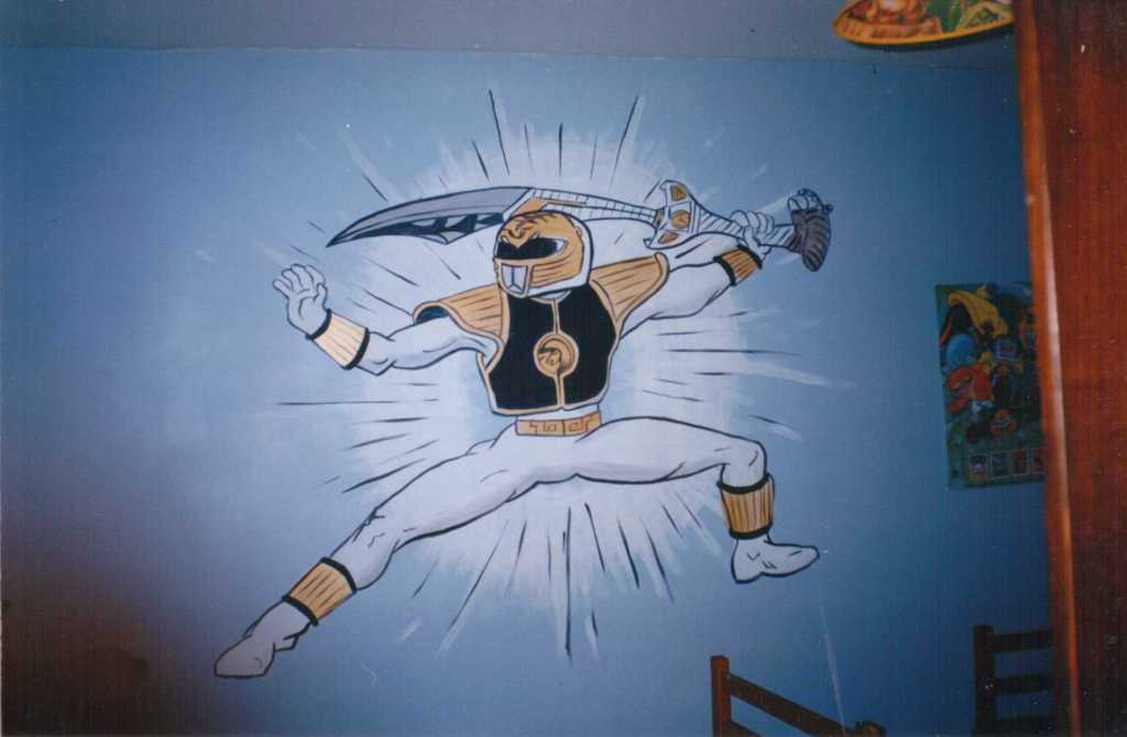 Power Rangers mural, Haverfordwest Dec 1996