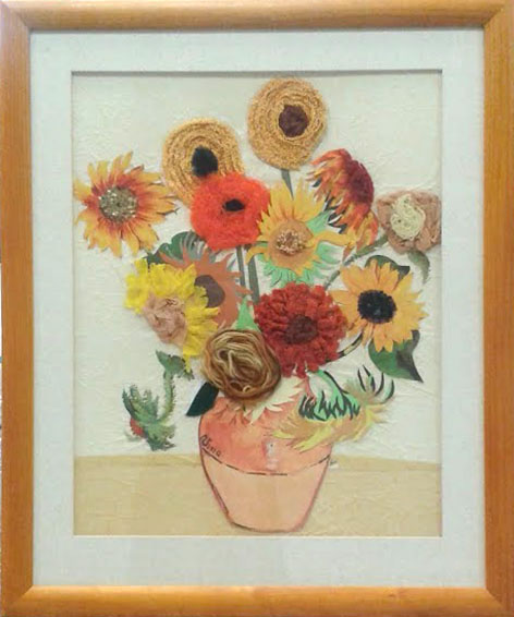 Recycled Sunflowers I