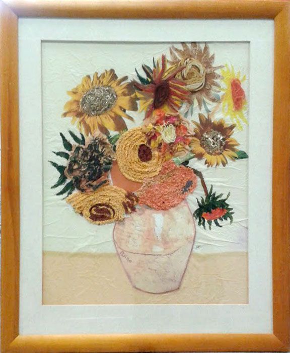 recycled sunflowers II