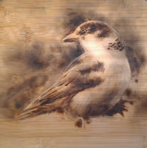 Sparrow Pyrography