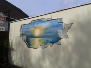 Lake Road sunset mural 1