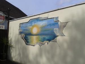 Lake Road sunset mural 1