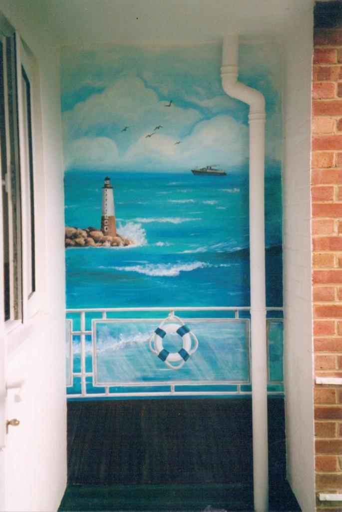Sea view mural