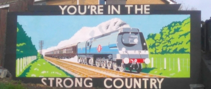 Strong country mural