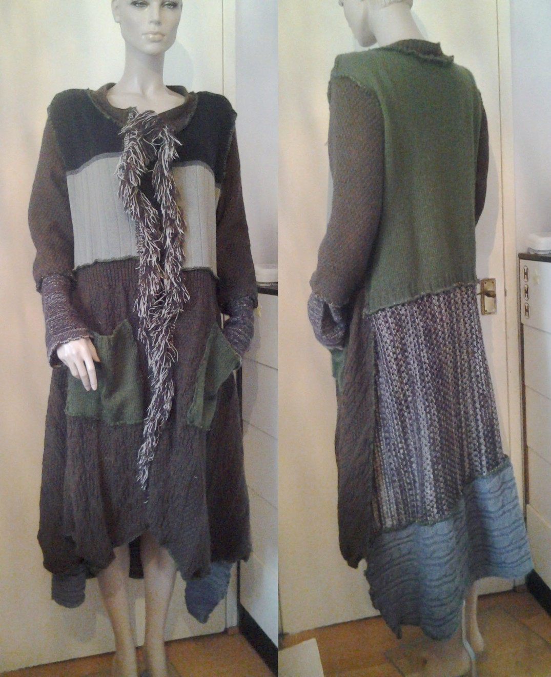 earth colours cardigan