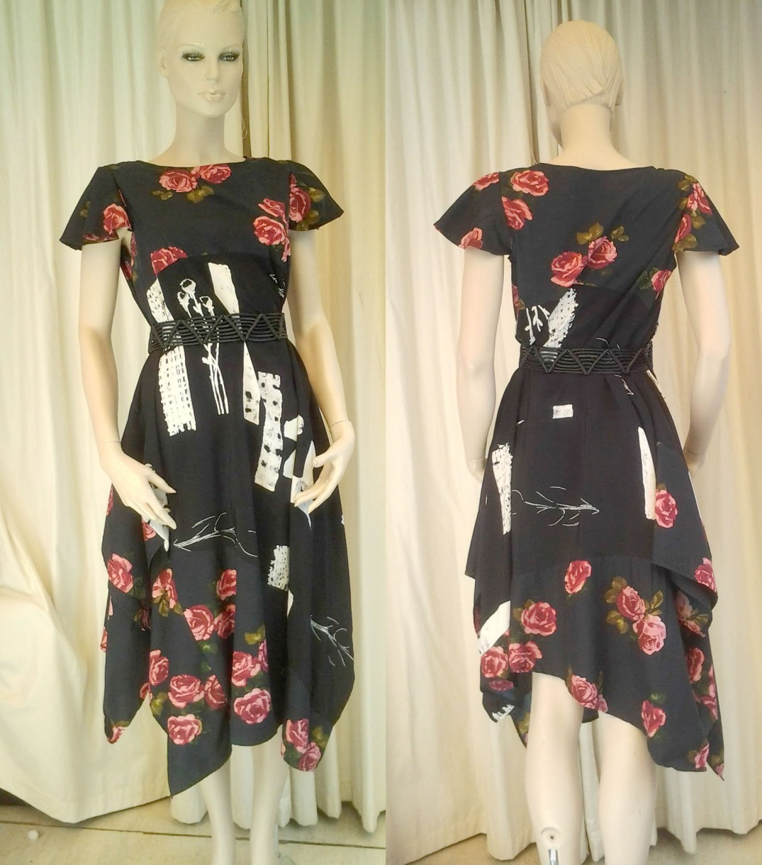 pin kroses boho dress front & back