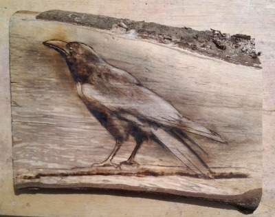 crow_pyrography