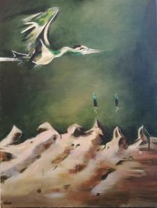 Bird over Sand