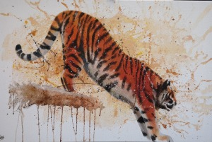 Descending Tiger